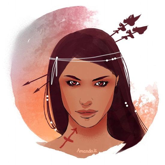 Risultati immagini per segno zodiacale donna sagittario
