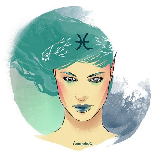 Risultati immagini per segno zodiacale donna pesci