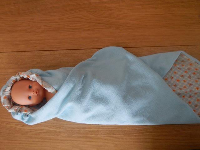 Conosciuto Coperta di pile con cappuccio per neonato fai da te. CC11
