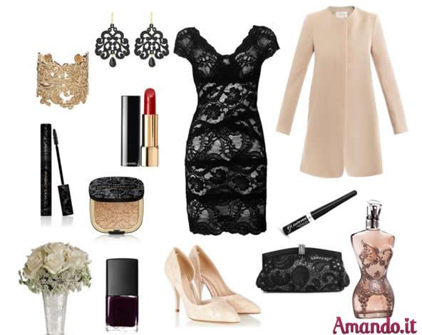 05e385f13abf Vestito nero pizzo accessori – Modelli alla moda di abiti 2018