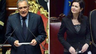 Grasso e Boldrini ottengono la Presidenza delle due Camere