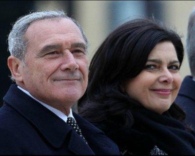 Boldrini e Grasso si riducono lo stipendio del 30%