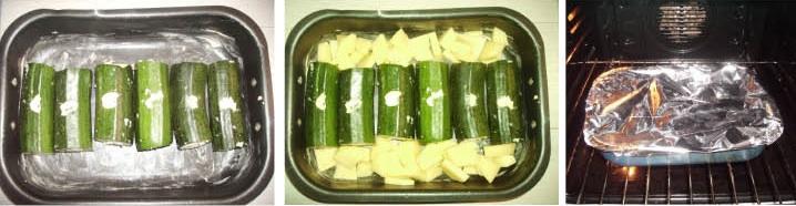 """Zucchine ripiene """"veg"""""""