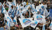 Manifestazione Pdl a Brescia a tutela di Berlusconi