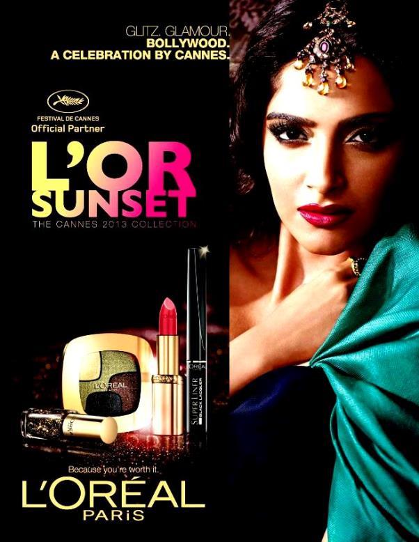 Make up L'Oreal L'Or Sunset Festival Cannes 2013