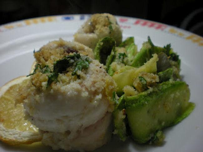 involtini di pesce sciabola e zucchine