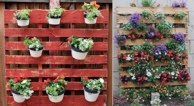 Arredamento di casa fai da te con bancali o pallet for Idee fioriere giardino
