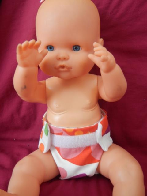 Pannolino finto per bambola