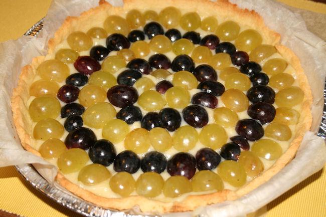 Crostata crema e uva