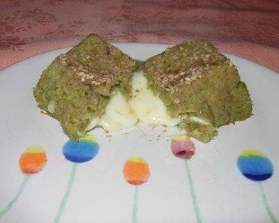 Sformatini di broccoli con cuore di formaggio