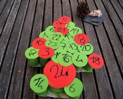 Calendario Avvento Con Rotoli Carta Igienica.Calendario Dell Avvento Fai Da Te Con Rotoli Di Carta Igienica