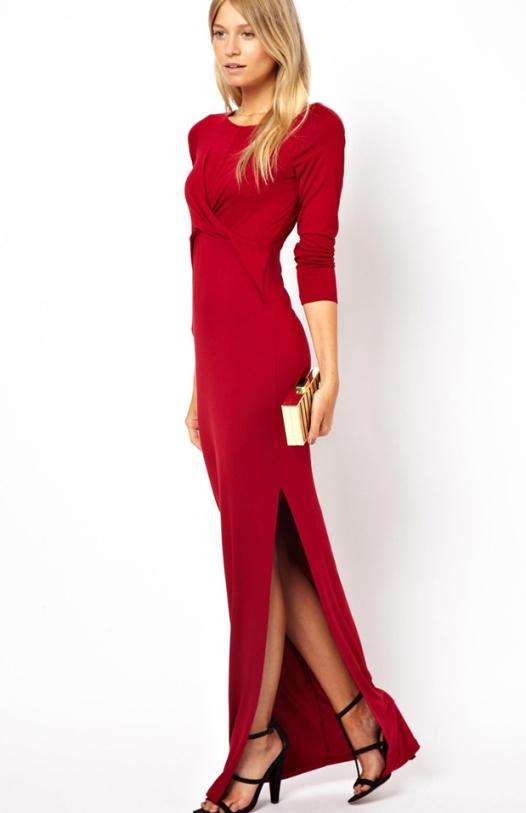 the latest 1fcb1 33c68 Vestito rosso lungo invernale – Vestiti da cerimonia