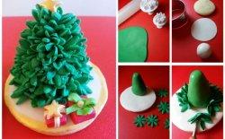 Cake design: un albero di Natale come segnaposto