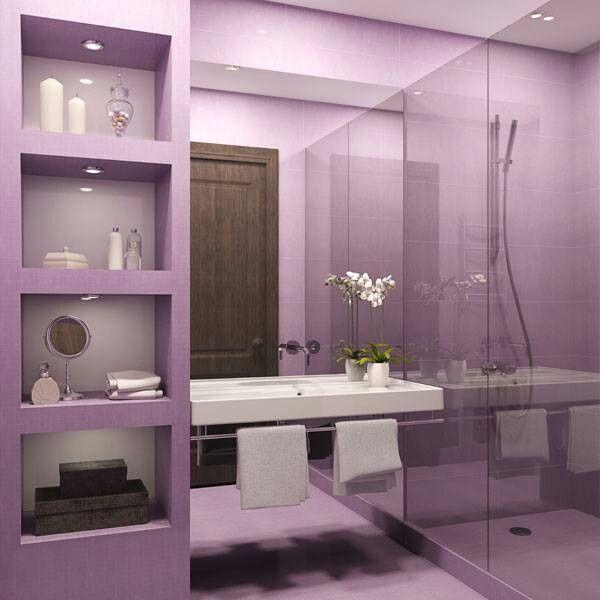 Purple And Black Bathroom: Accessori E Complementi Radiant Orchid Per Una Casa Di