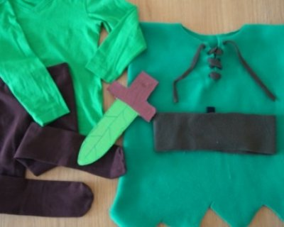 Costume da Peter Pan per bambini fai da te