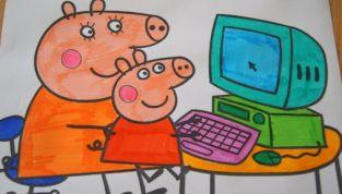 Disegni di Peppa Pig da stampare e colorare