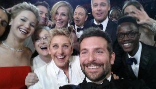 Selfie da record agli Oscar 2014