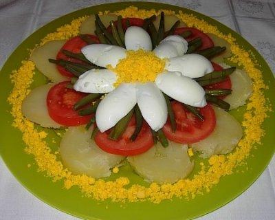 Insalata di patate con uova pomodori e fagiolini for Ricette di cucina antipasti