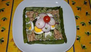 Insalata di asparagi, fave e cannellini