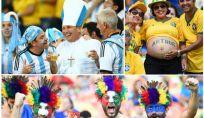 Foto sugli spalti degli stadi di Brasile 2014