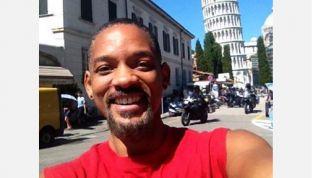 Will Smith turista in incognito a Firenze e Pisa