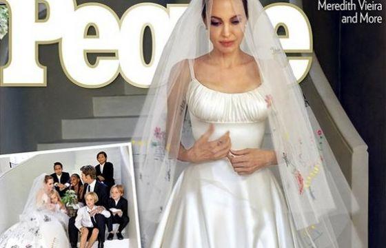 Nozze e abito da favola per Angelina Jolie