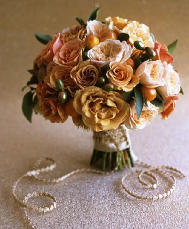 Eccezionale Fiori e frutta per il bouquet da sposa in autunno HX75