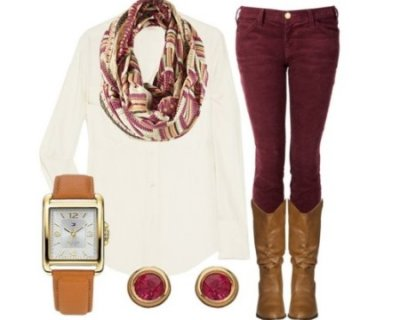 Look della settimana: burgundy mood