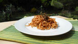 Spaghetti alla chitarra con pesto al finocchietto