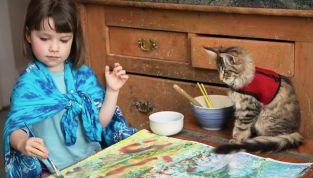 Iris Grace e la sua gattina Thula, amiche inseparabili contro l'autismo