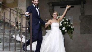 Michelle Hunziker: l'abito da sposa di Antonio Riva