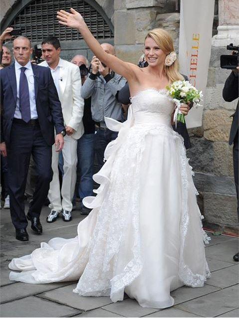 Michelle Hunziker l\u0027abito da sposa di Antonio Riva