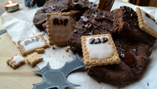 Ricetta della torta cimitero di brownies