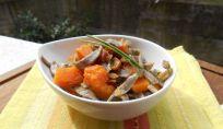 Tagliolini saraceni ai funghi e zucca