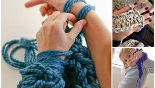 Arm knitting, lavorare a maglia senza ferri