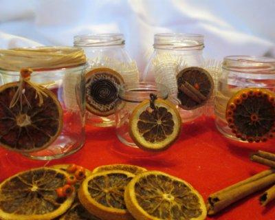 Candele natalizie con arance secche fai da te - Portacandele fai da te ...