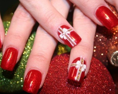 Decorazioni natalizie per unghie