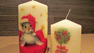 Candele natalizie decorate fai da te