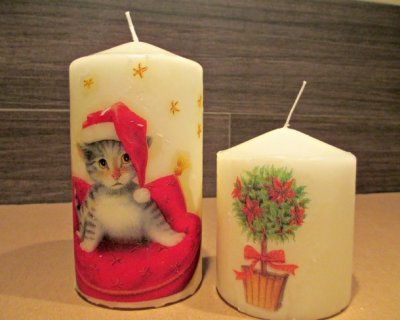 Decorare Candele Natale : Candele natalizie decorate