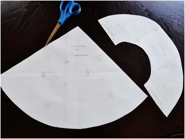 Ritagliamo ora il modello di carta e facciamone una copia esatta con il  feltro o il pile. Se usiamo stoffa normale dobbiamo calcolare anche un  centimetro di ... f856f773794f