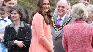 Fiocco rosa per Kate Middleton