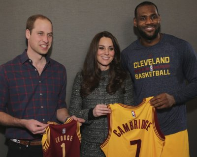 Partita di basket per Kate e William a New York