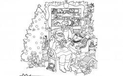 Scarica gratis le immagini di Natale da colorare