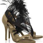 Sandali piume Valentino